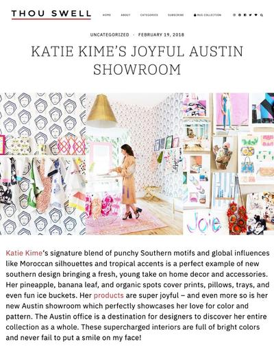 KATIE KIME'S JOYFUL AUSTIN SHOWROOM - THOU SWELL