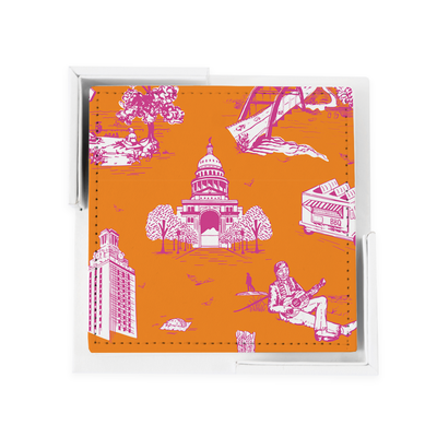 Coaster Set Orange 59000 Lille Toile Coaster Set