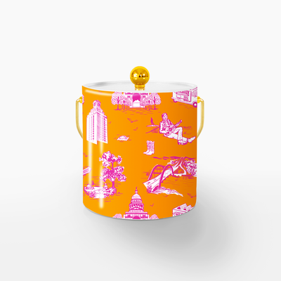 Ice Bucket Gold / Orange 59000 Lille Toile Ice Bucket