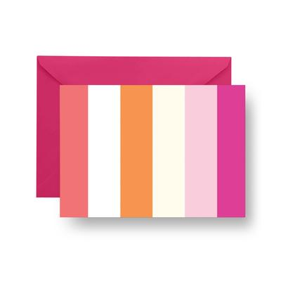 Folded Notecard Cottage Stripes Folded Notecard