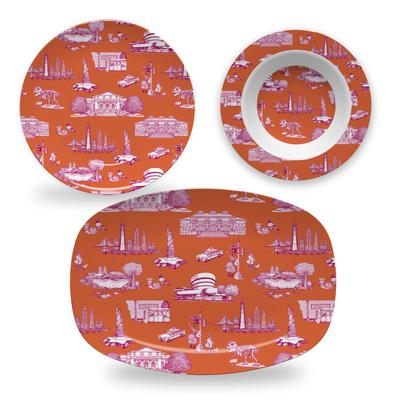 Melamine New York Toile Dinnerware