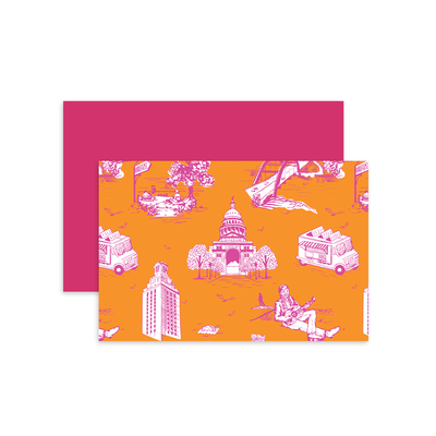 Folded Notecard Orange 59000 Lille Toile Folded Notecard Set