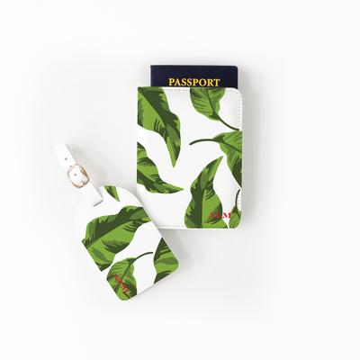 Passport Set Green Banana Leaves Passport Set