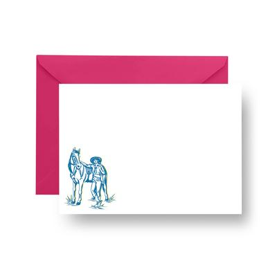 Flat Notecard Fort Worth Cowgirl Flat Notecard Set