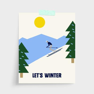 Gallery Prints Green / 5x7 / Unframed Let's Winter Gallery Print