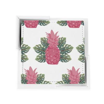 Coaster Set Spring Pineapples Coaster Set