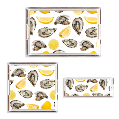 Lucite Trays 6x6 The World is Your Oyster Lucite Tray
